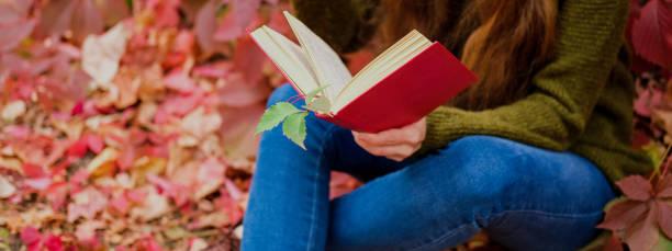 Girl in blue jeans sitting among colorful ivy in autumn and reading a picture id1156331763?b=1&k=6&m=1156331763&s=612x612&w=0&h=ngunzrw9iatu6jboufv25gbofycz0c3z4fwxda dncq=