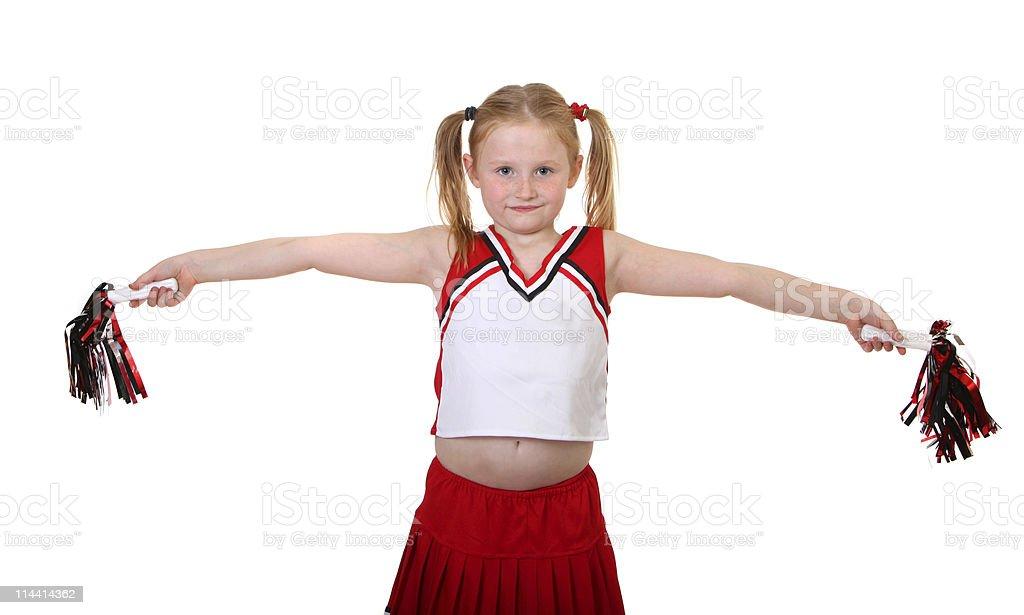 girl in cheerleader uniform royalty-free stock photo