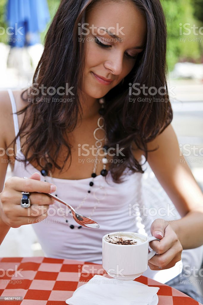 girl in coffee break royalty-free stock photo