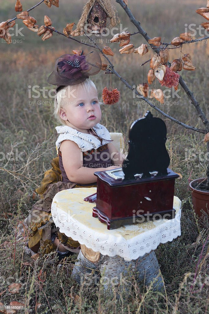 Girl in costume royalty-free stock photo