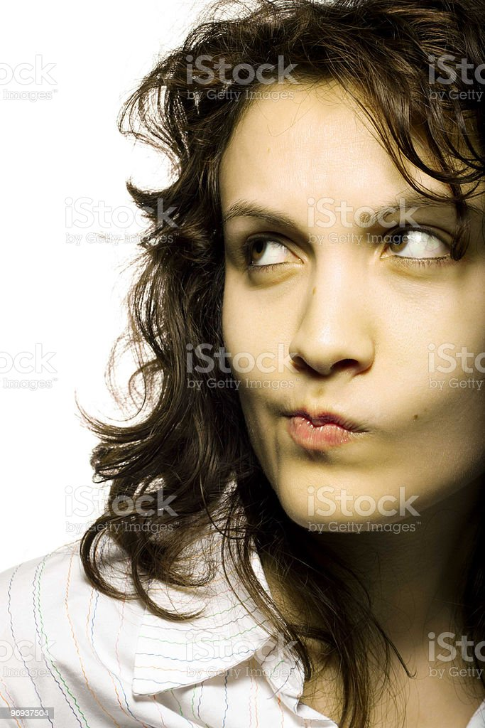 Girl in Doubt - Royalty-free 20-24 Years Stock Photo