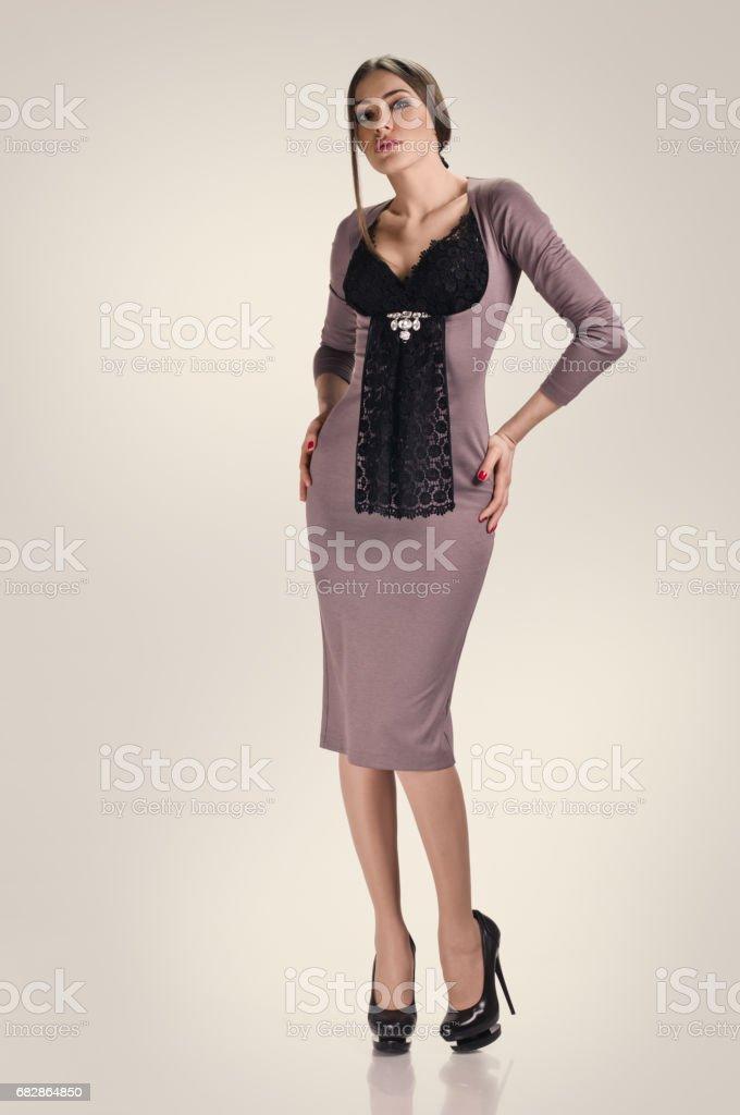 girl in dress Lizenzfreies stock-foto