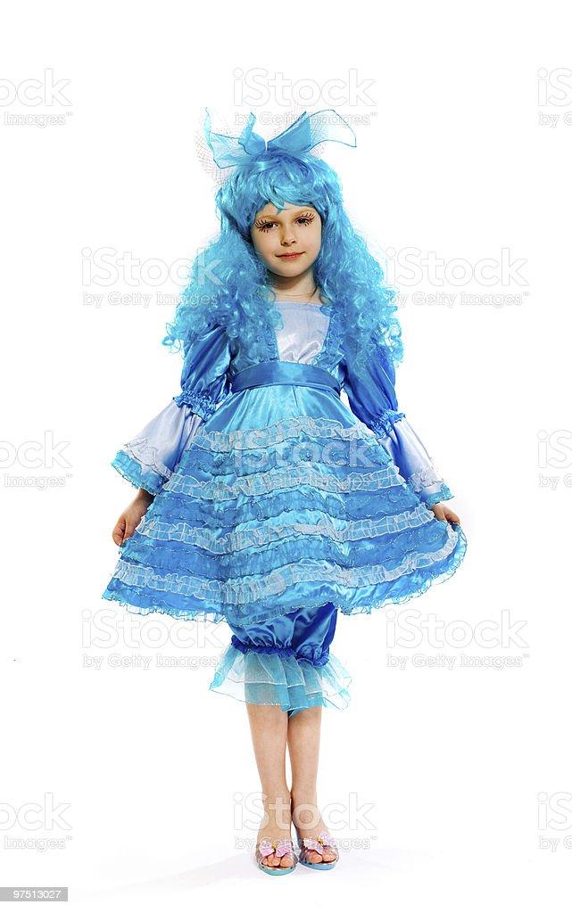 girl in fancy dress royalty-free stock photo