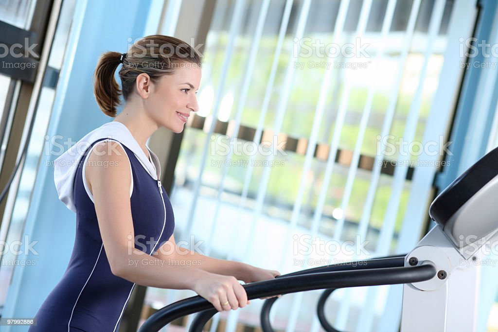 Girl in fitness center. royalty-free stock photo