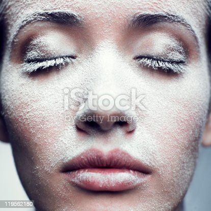 istock Girl in frost 119562180