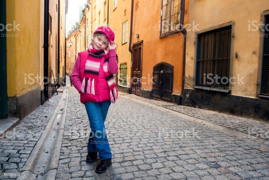 Girl in Gamla Stan, Stockholm