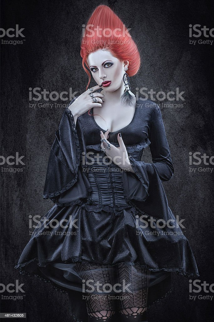 Girl in Gothic style. stock photo