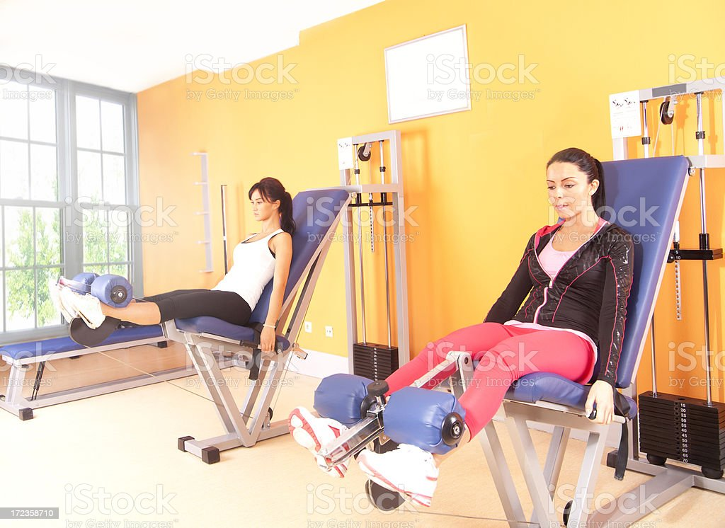 girl in health club royalty-free stock photo