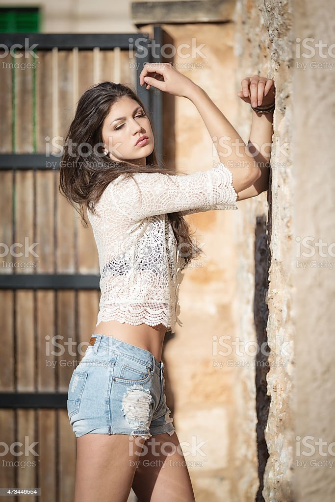 Girl in Hotpants stock photo
