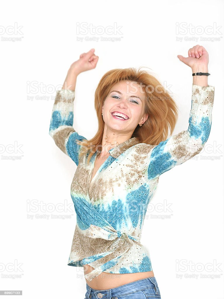 Chica en salto foto de stock libre de derechos