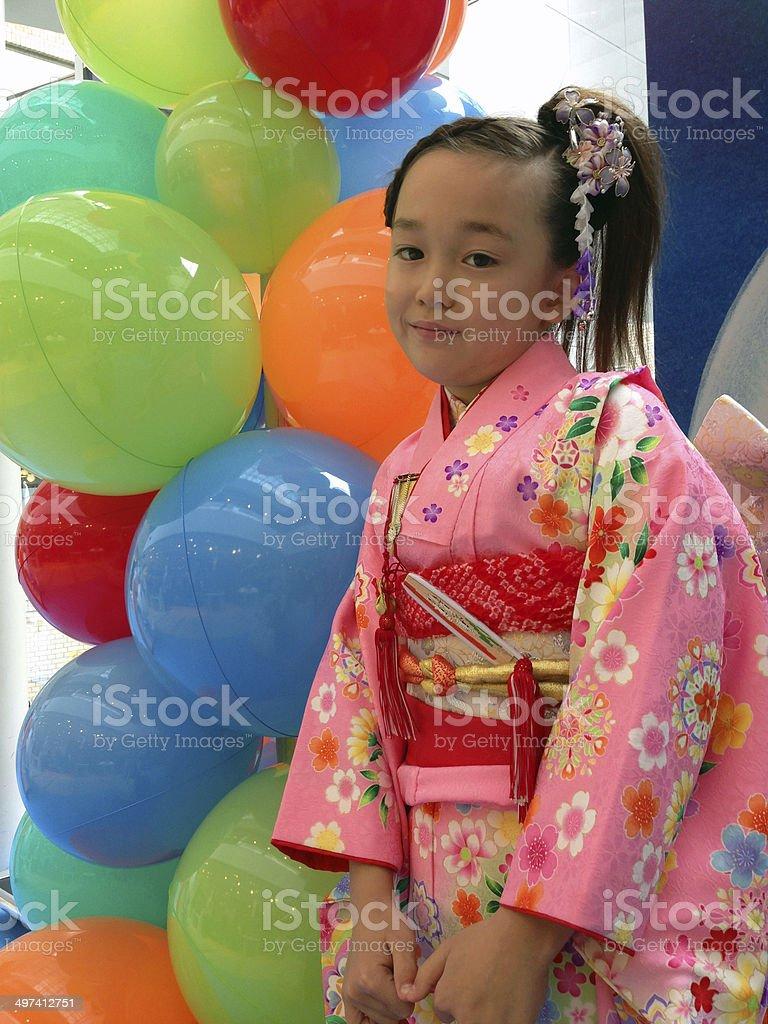 Ragazza in kimono - foto stock
