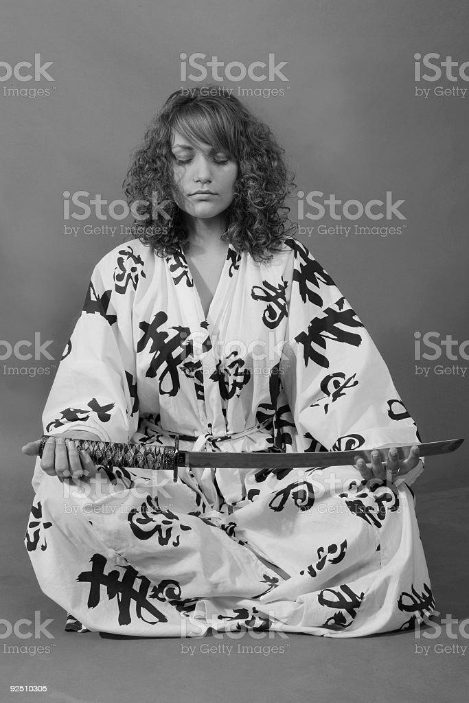 girl in kimono royalty-free stock photo