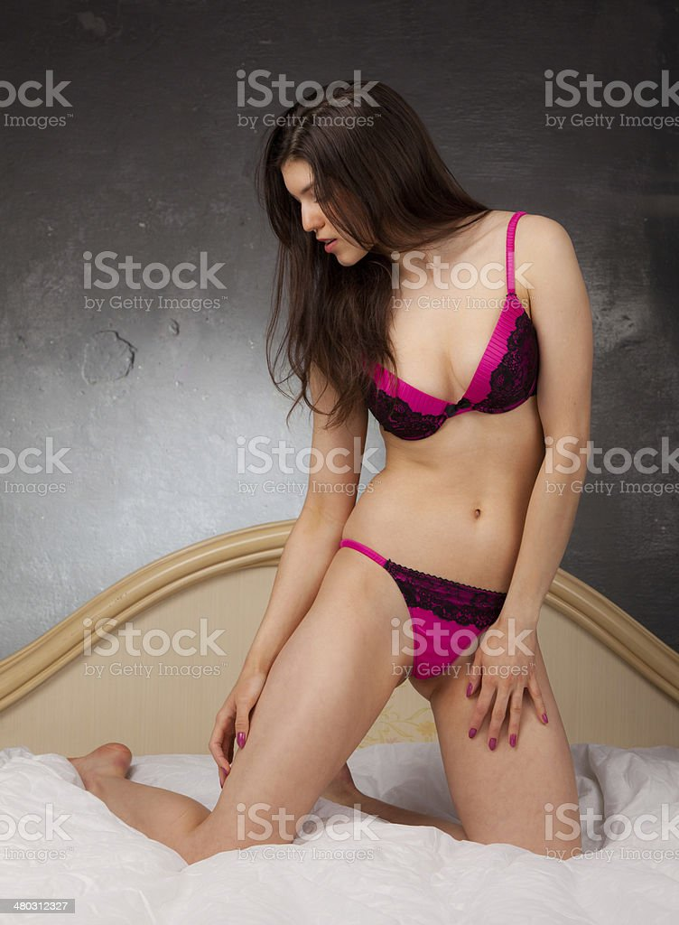 e2941521ae9 Girl In Lingerie In Bed Stock Photo   More Pictures of Adult - iStock
