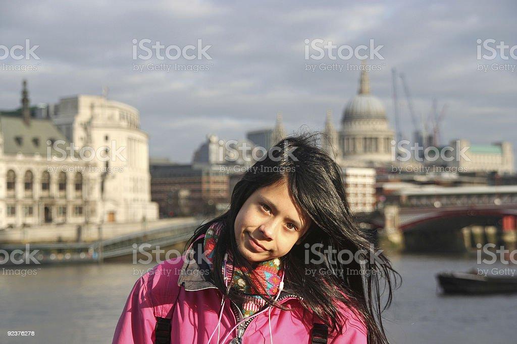 Girl in London royalty-free stock photo