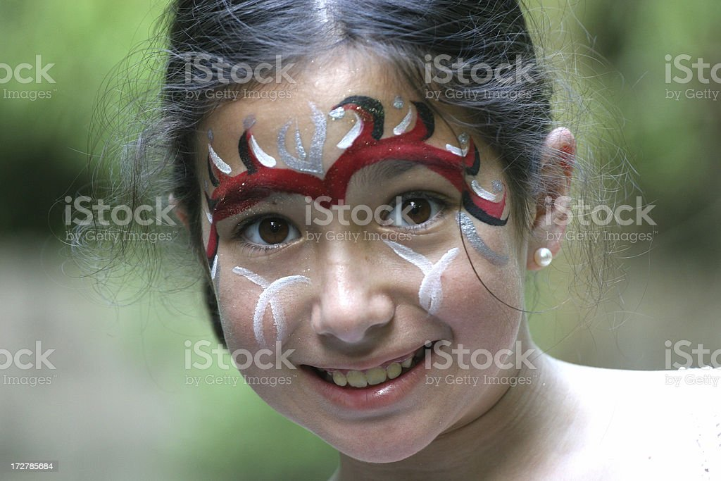 Girl in makeup royalty-free stock photo