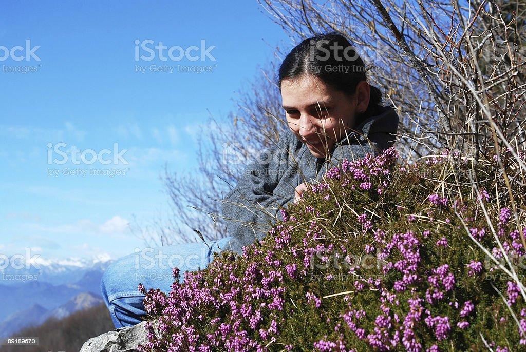 Girl in mountain series royalty-free stock photo