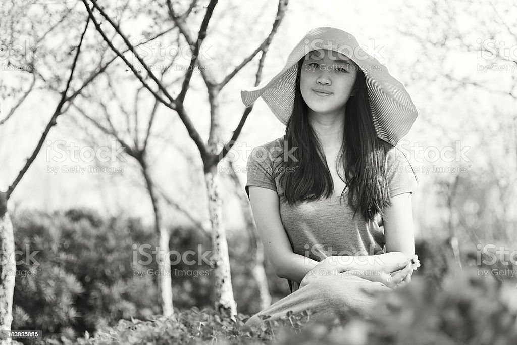 Girl in Nature royalty-free stock photo
