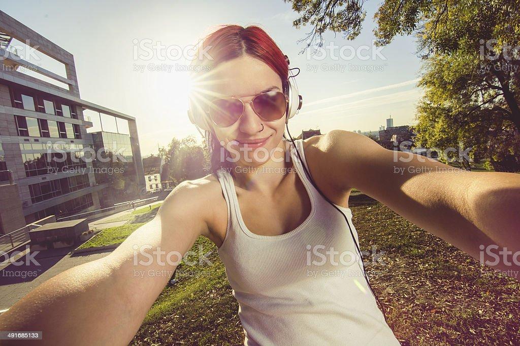 Girl in park royalty-free stock photo