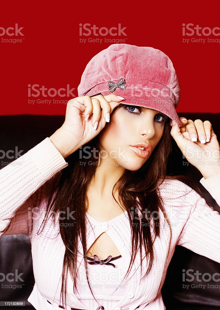 Girl In Pink royalty-free stock photo