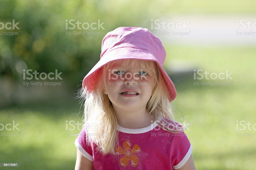 Girl in Pink stock photo