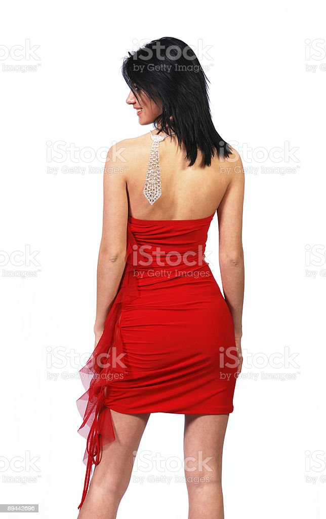 girl in red clothes royalty-free stock photo