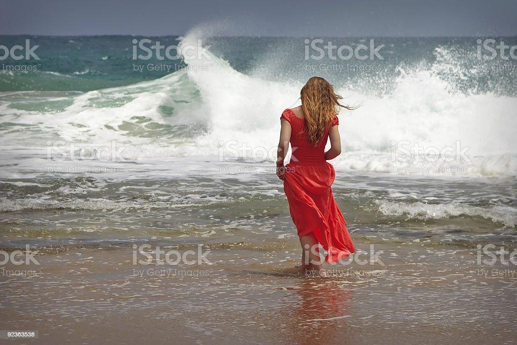 Mädchen in Rot Lizenzfreies stock-foto