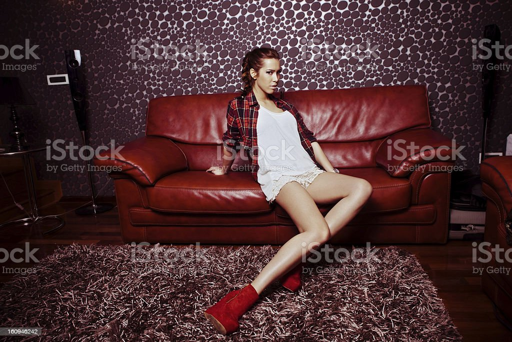 girl in room royalty-free stock photo