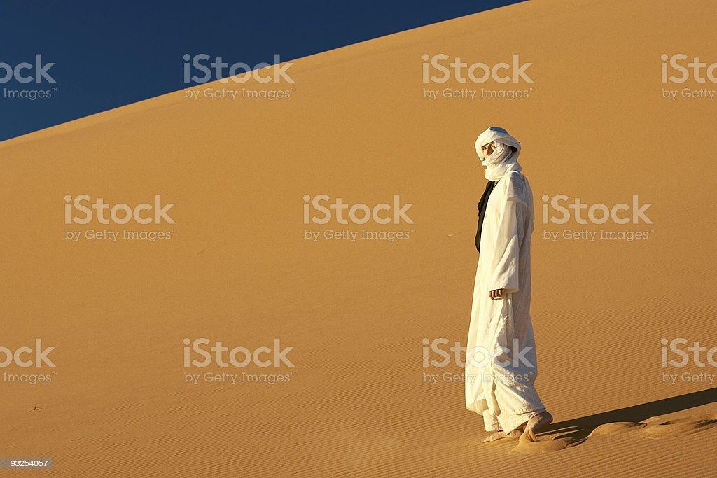 girl in Sahara royalty-free stock photo