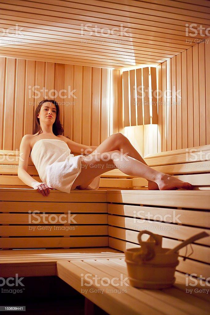 Girl IN Sauna Stock Photos - FreeImages.com
