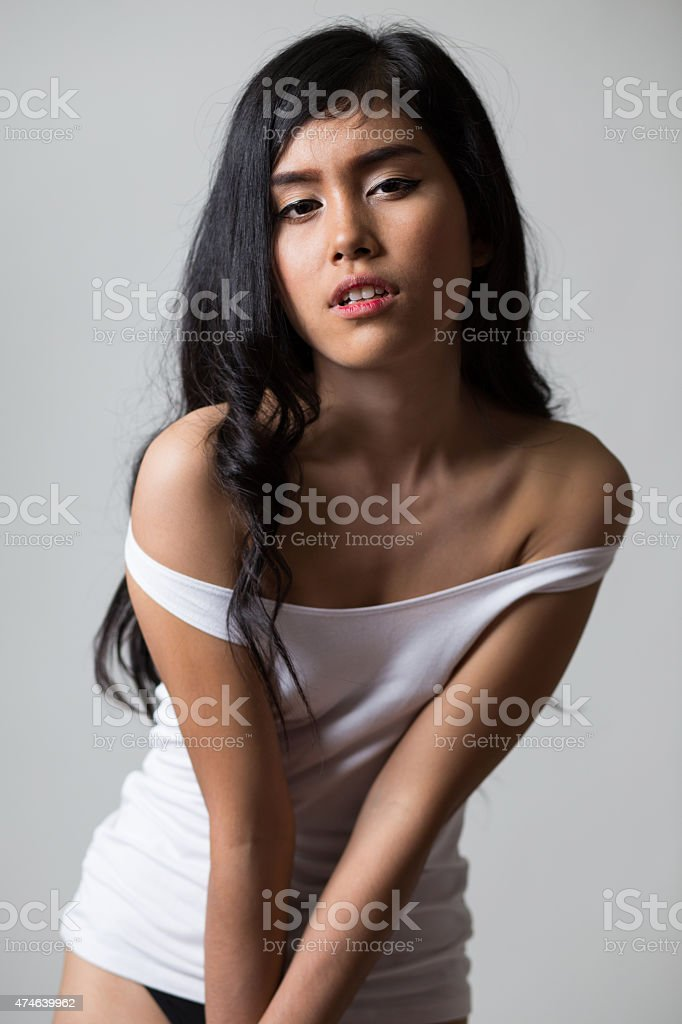 Girl in shirt​​​ foto