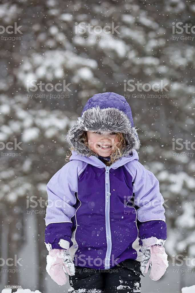 Girl in Snow royalty-free stock photo