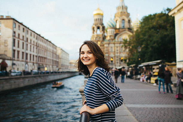Girl in St.Petersburg ストックフォト