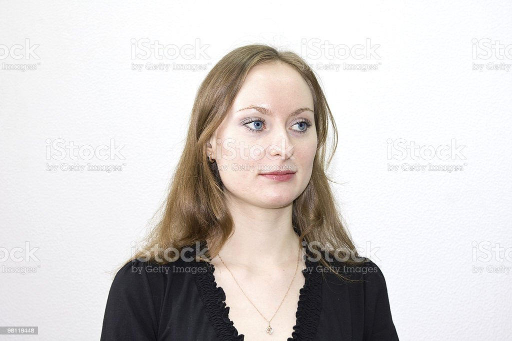 Girl in the black royalty-free stock photo