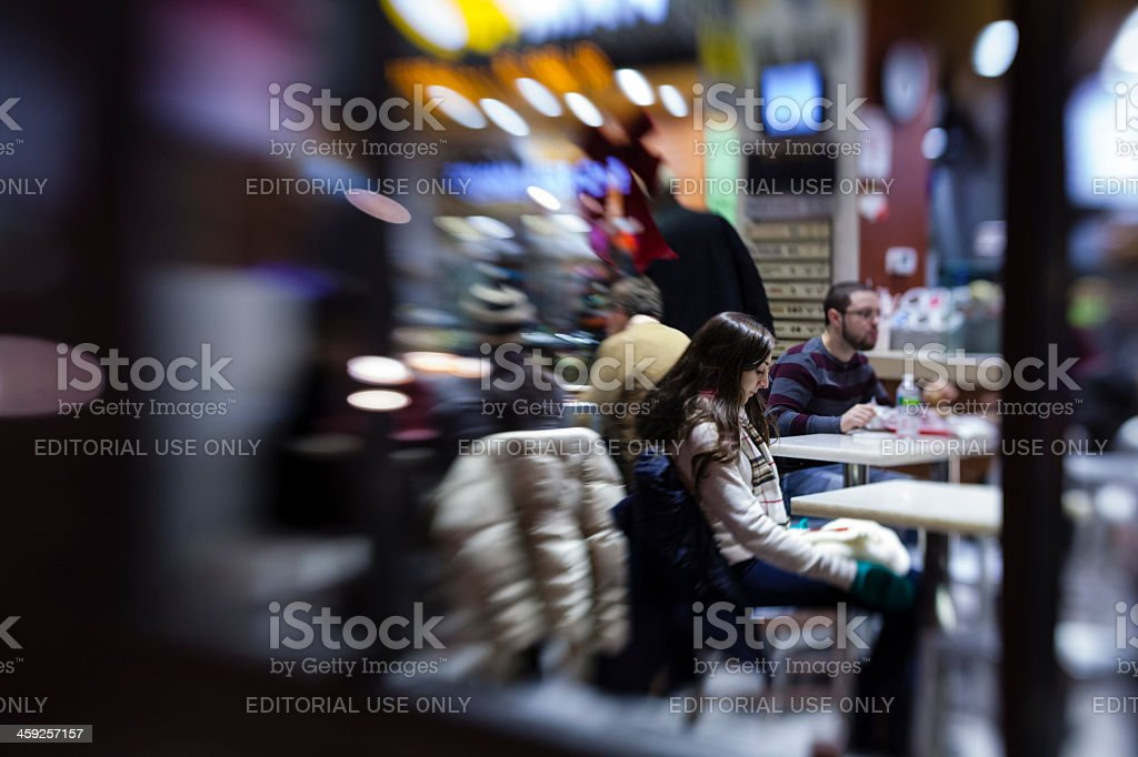 Girl in the cafe. royalty-free stock photo