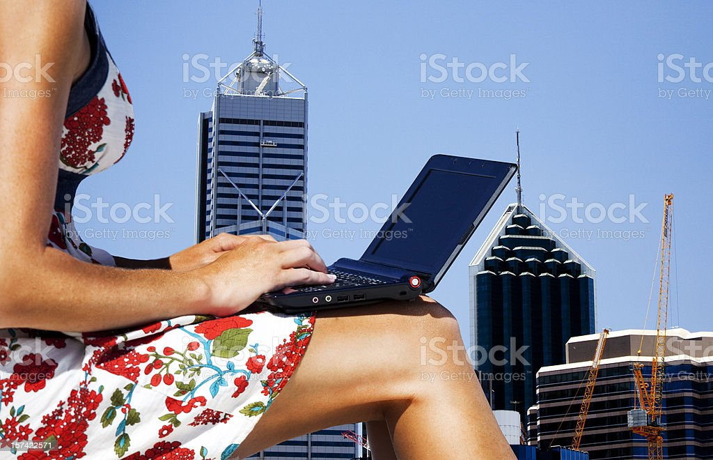 Girl in the city royalty-free stock photo
