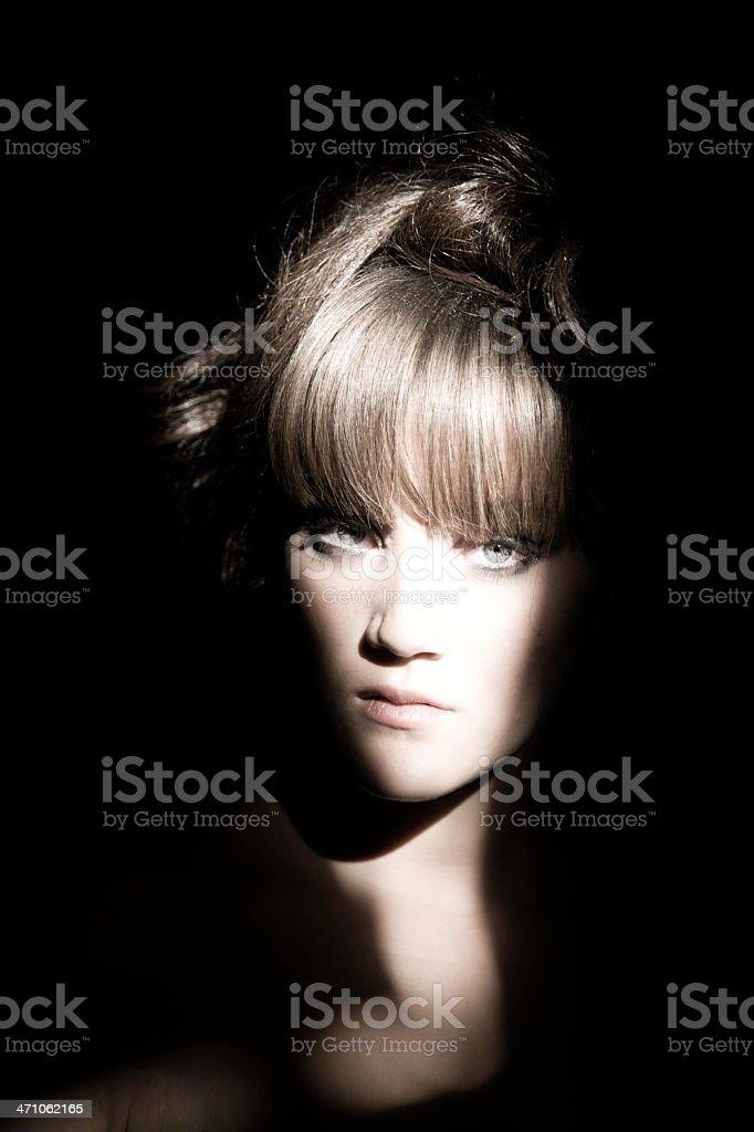 Girl in the Dark royalty-free stock photo