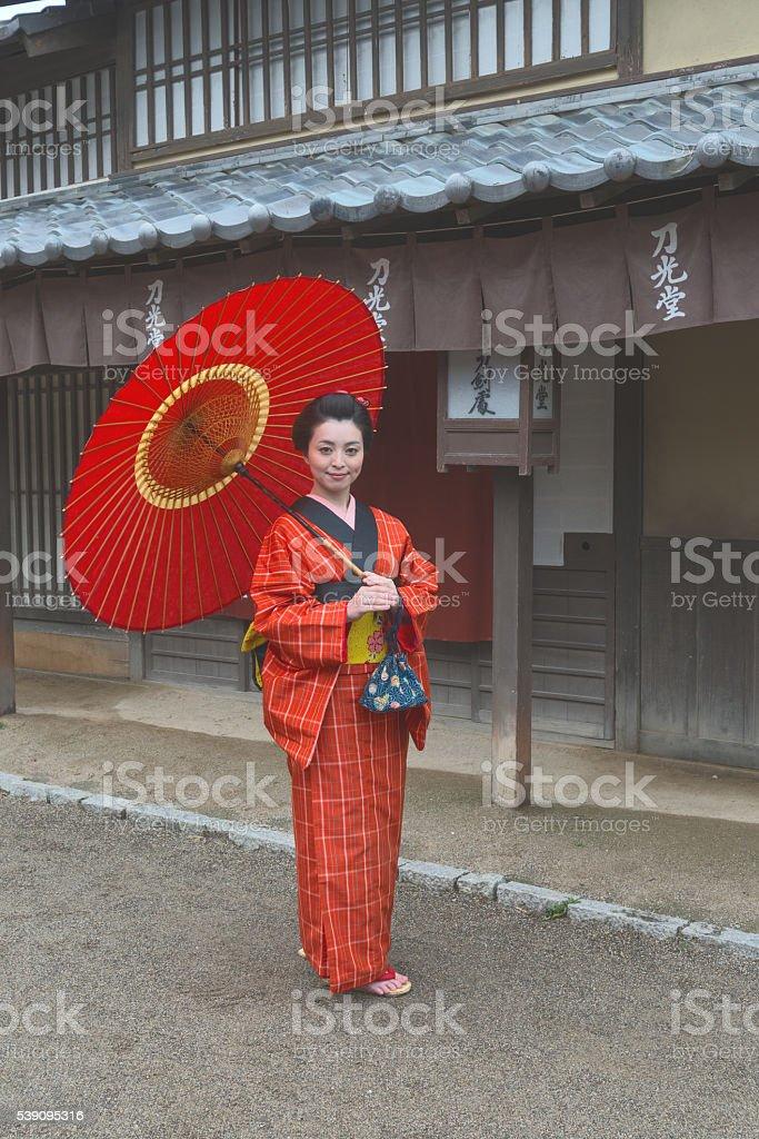 Girl in the Edo period stock photo