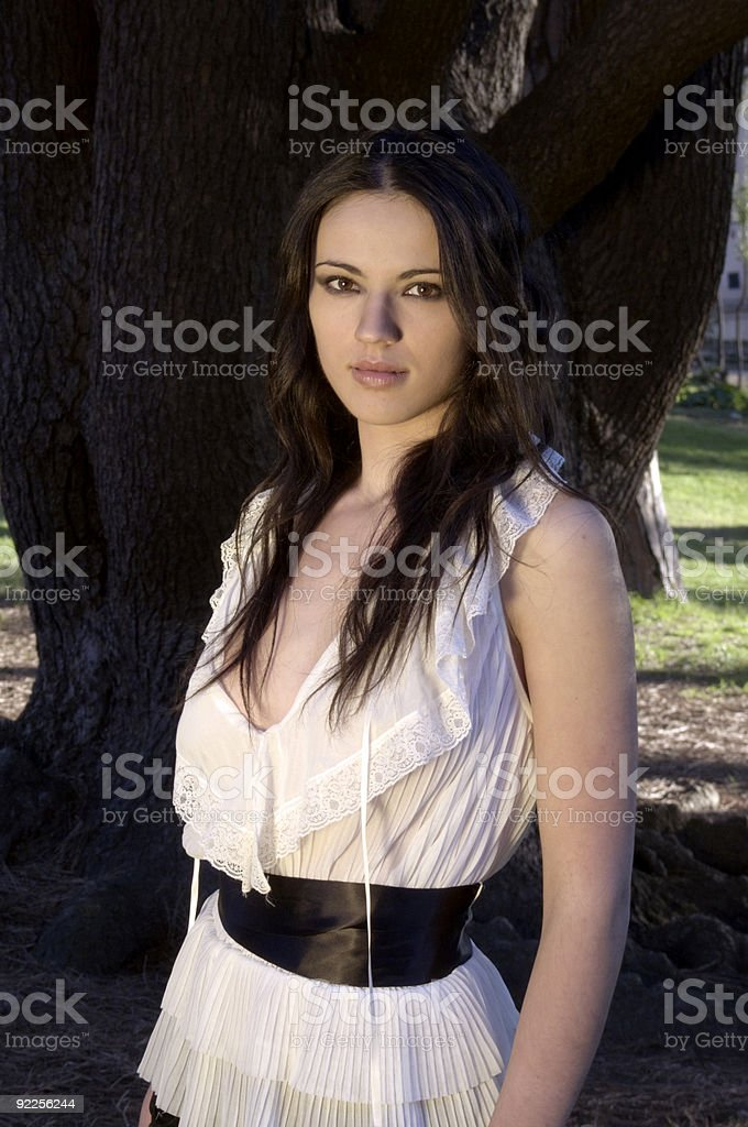 Girl in the forest royalty-free stock photo