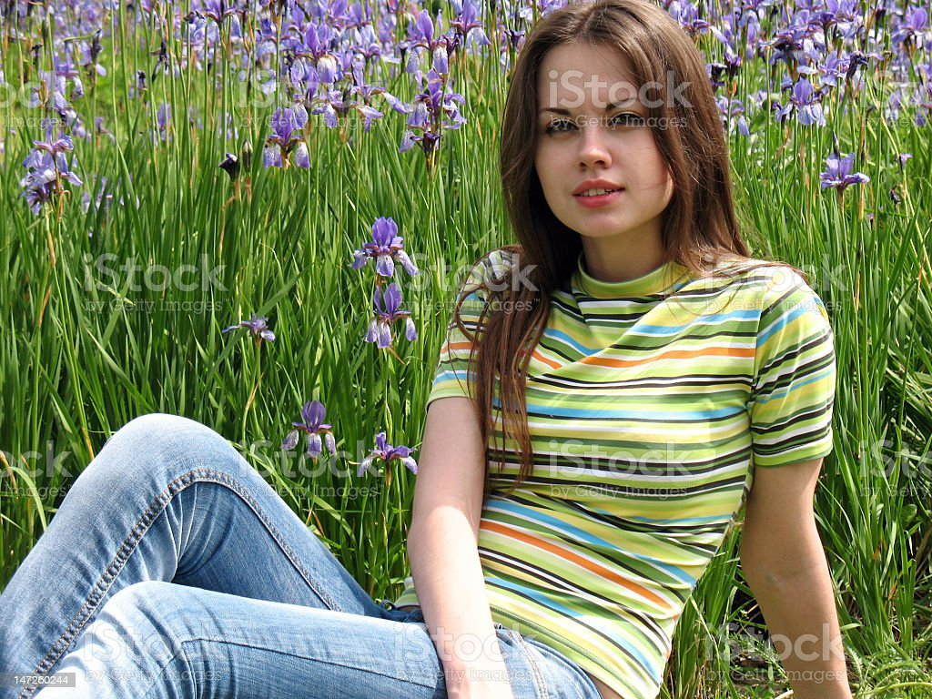 girl in the full bloom of youth royalty-free stock photo
