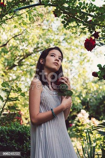 623358818 istock photo Girl in the garden 996245202