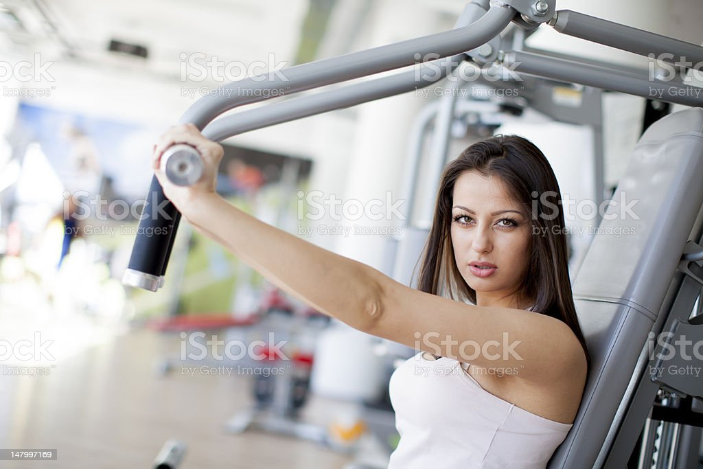 Girl in the gym royalty-free stock photo