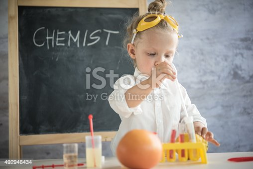 492992868 istock photo Girl in the laboratory of food quality tests 492946434