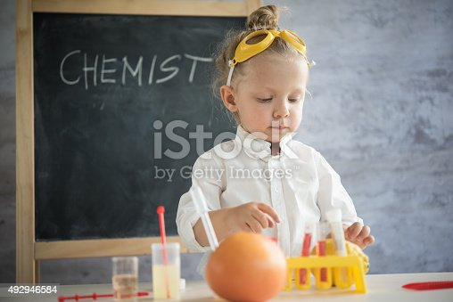 istock Girl in the laboratory of food quality tests 492946584