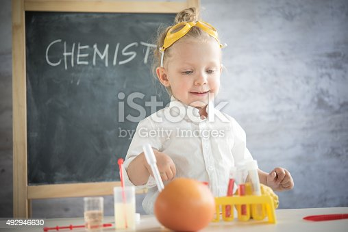 istock Girl in the laboratory of food quality tests 492946630