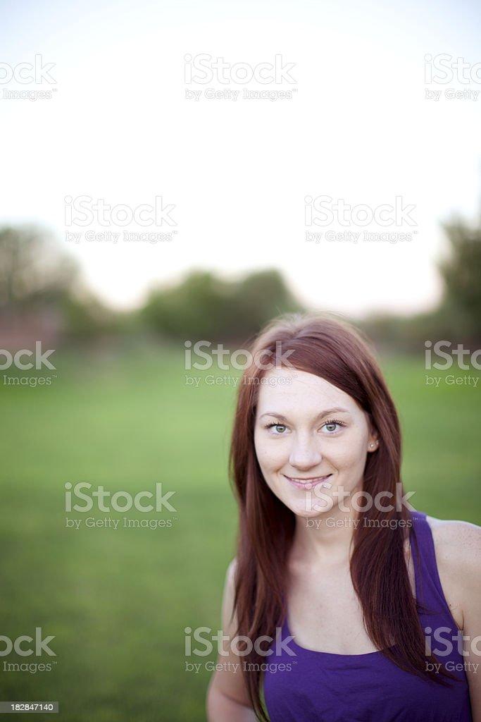 Girl in the park. stock photo