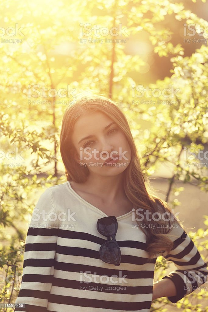 girl in the park royalty-free stock photo