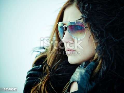 istock Girl in the snow 183375897
