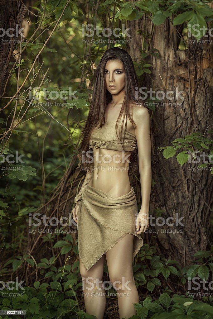 girl in the woods. stock photo