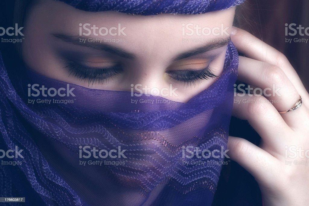 Girl in veil royalty-free stock photo