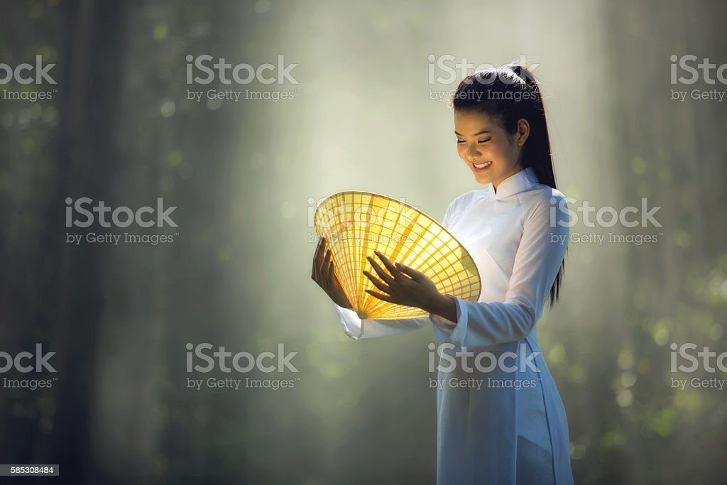 girl in Vietnam stock photo